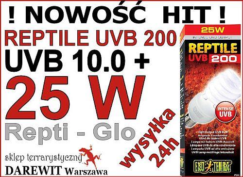 Exo Terra Reptile UVB 200 najwięcej UVB