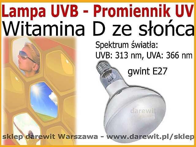 Lampa UVB 313nm, promiennik UV