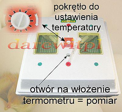 inkubator z termometrem