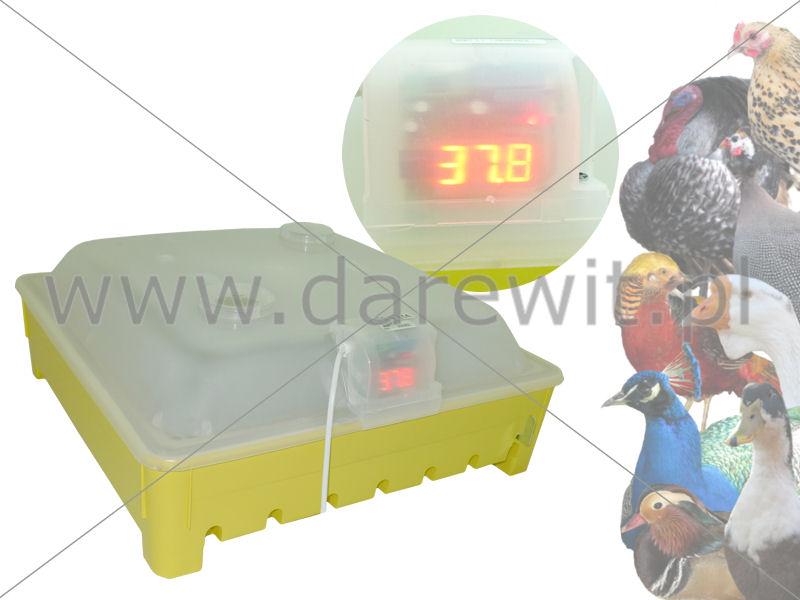 Aparat wylęgowy z LCD temperatury i obracaniem jaj