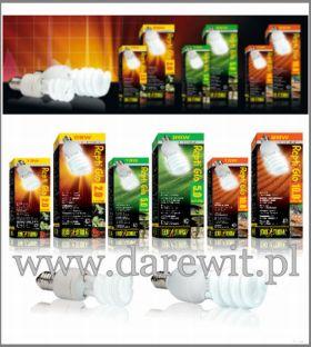 Świetlówki kompaktowe Repti Glo z odpowiednią emisją UVb