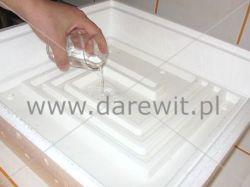 nalewanie wody do inkubatora